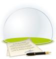 Insurance globe vector image vector image