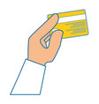 isolated hand credit card vector image
