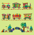 kid train railroad baby cartoon toy or vector image vector image