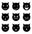Kitten faces emotional vector image