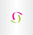 letter s green magenta logotype logo vector image vector image
