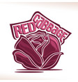 logo for fresh red cabbage vector image