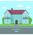 Modern Apartment Building vector image