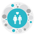 of relatives symbol on lovers vector image