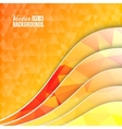 Orange triangles and waves vector image vector image