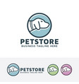 pet store logo vector image vector image