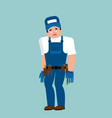 plumber sad fitter sorrowful emoji service worker vector image vector image