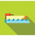 Powerboat icon in flat style vector image