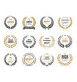premium round labels sale or victory emblem vector image