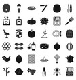 product icons set simple style vector image vector image