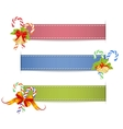 ribbons with shadow vector image vector image