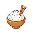 rice in bowl vector image vector image