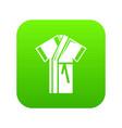 robe icon green vector image vector image