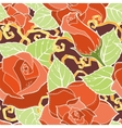 Seamless colorful pattern with stylized red vector image
