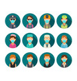 set icon character people police bodyguard vector image