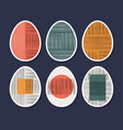 set minimalistic geometric easter egg with vector image