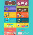 Set of Banner Concept Pay Per Click Business Plan vector image vector image
