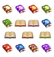 Set of cartoon closed and opened books vector image vector image