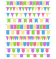 set of cartoon flag garlands isolated on white vector image vector image