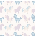 simple seamless pattern with 4 pony in pastel vector image