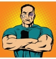 Strong man after a fight vector image vector image