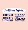stylish hand drawn english alphabet collection vector image