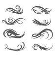 tattoo style flourishes vector image vector image