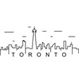 toronto outline icon can be used for web logo vector image vector image