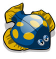 toy in form fish flounder isolated on vector image vector image