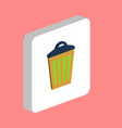 trash can computer symbol vector image