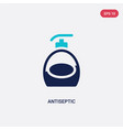 two color antiseptic icon from hygiene concept
