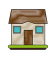 typical cartoon house draw vector image vector image