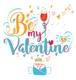 Valentines Day Greeting Card Lettering vector image