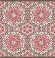 vintage floral seamless pattern tile vector image vector image