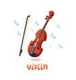 violin of a violin and notes vector image