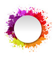 watercolor blot abstract background vector image vector image