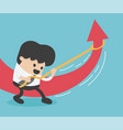 young businessman changing direction vector image