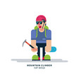 tourist in cartoon style vector image