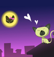 Cat In Love vector image