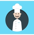 chef avatar in dark circle vector image