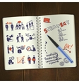 Meeting Sketch Notepad vector image