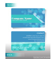 a blue card vector image vector image