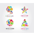 Abstract logo set template for branding and vector image vector image