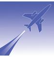 airplane in flight vector image vector image