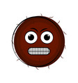 angry coconut cartoon character emote vector image