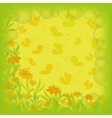 Background flowers and butterflies vector image vector image