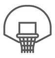 basketball hoop line icon game and sport vector image vector image
