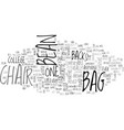 bean bag chair text word cloud concept vector image vector image