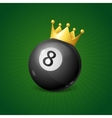 Billiards Concept with Golden Crown vector image