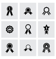 black award medal icon set vector image